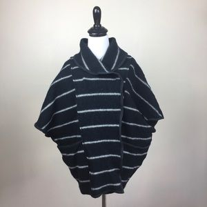 Free People Wool Blanket Poncho Size Small